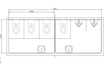 Nội thất nhà vệ sinh cao cấp cho thuê sự kiện