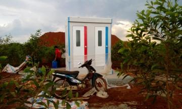 Cho thuê nhà vệ sinh di động đôi