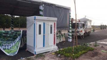Nhà vệ sinh di động đôi cho thuê sự kiện