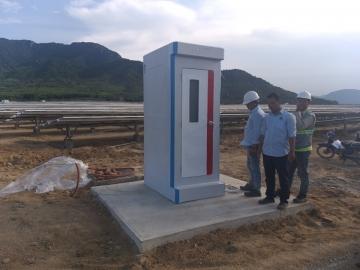 Cung cấp nhà vệ sinh công trình chất lượng cao cho dự án điện mặt trời