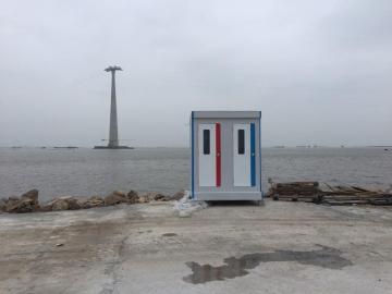 Nhà vệ sinh di động đôi dùng ven biển