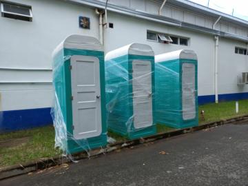 Nhà vệ sinh bằng composite giá rẻ phục vụ cách ly sản xuất trong nhà máy