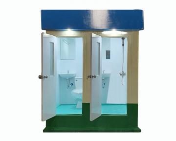 Nhà vệ sinh công cộng đôi vừa tắm và vệ sinh